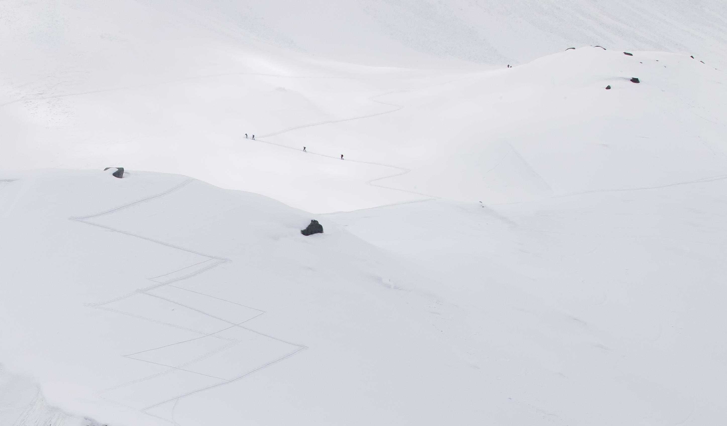 Mont Blanc vanaf Aiguil de Midi
